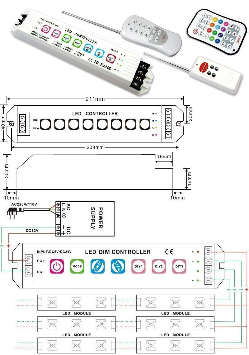 Dimmer Led_RGB 3900
