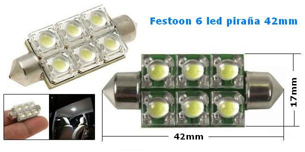 Festoon 42mm 6Led S.Fluxe