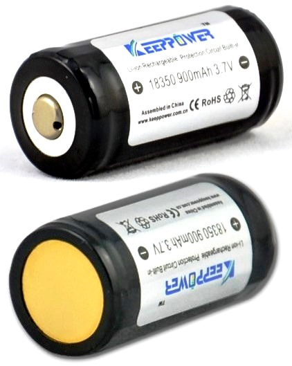 Keeppower 18350-900mAh