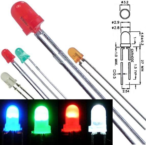 Led 3mm difusos