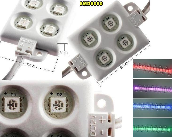 Modulo 4 led 5050 68mm