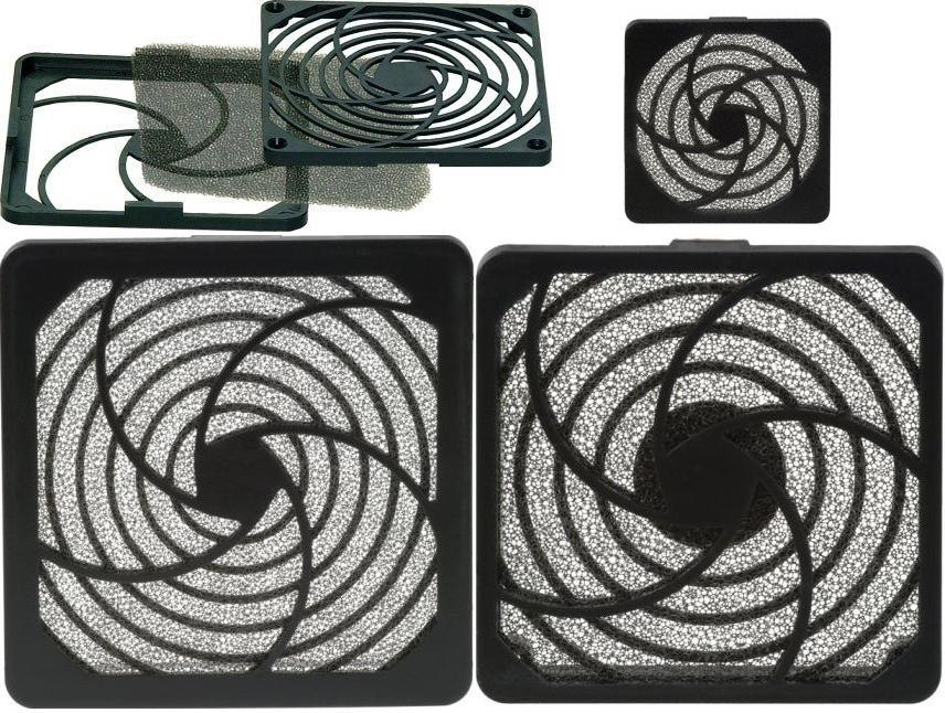 Rejillas plastico con filtro para Ventiladores