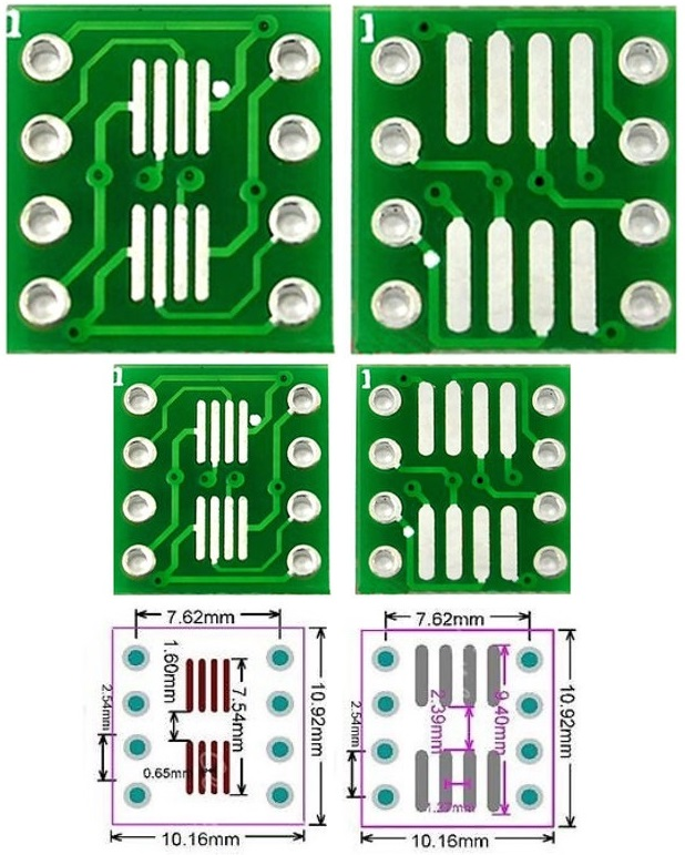 SOP8 SO8 SOIC8 SMD a DIP8 Adapter
