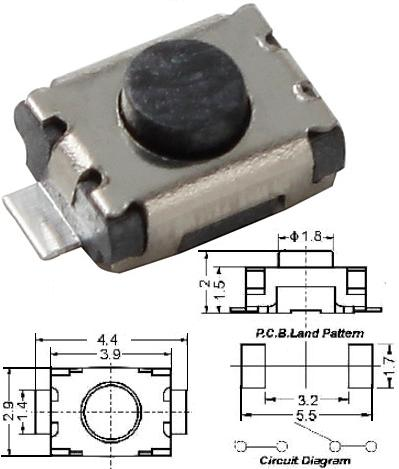 Tact switch 4.4x2.9mm