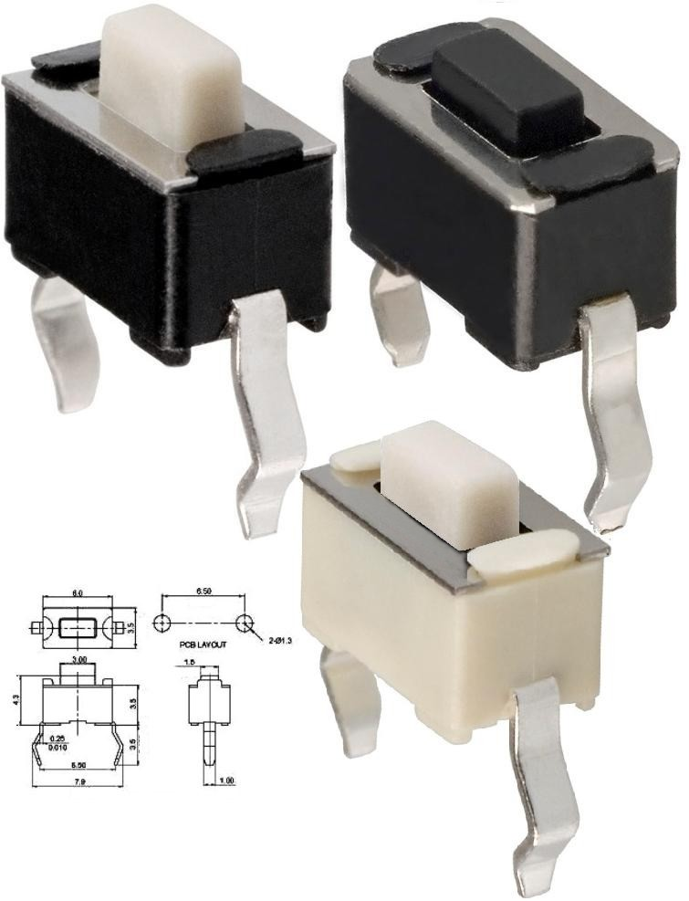 Tact Switch 6x3mm