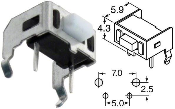 Tact Switch 6x5mm