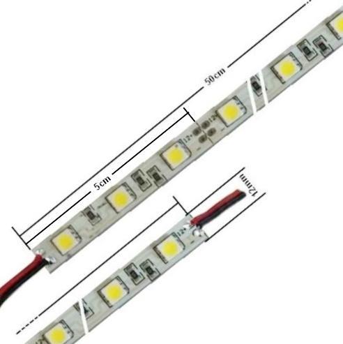 Tiras rigidas de led mono 5050, 50cm