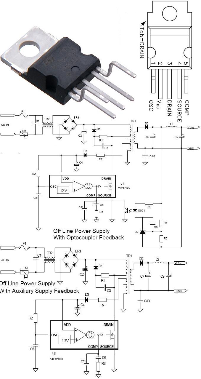 Viper Controlador Driver Smps Lasers Diy Led Drivers 3v 5v 4 Amc7135 Flashlight Circuit Ms Ic